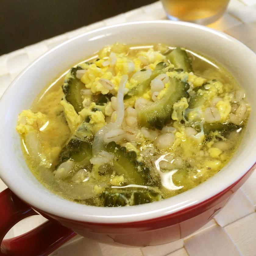 ガーリック風味 ゴーヤの卵雑炊