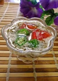 もずく酢とヨーグルトで簡単冷スープ