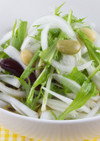 新玉ねぎとお豆のさっぱりサラダ