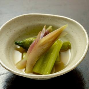 キュウリと夏野菜の煮物