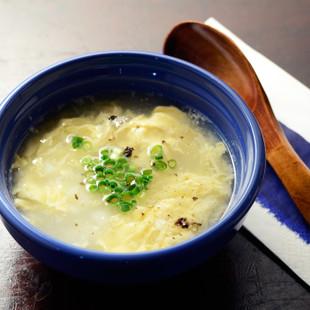 とろろと卵の中華スープ