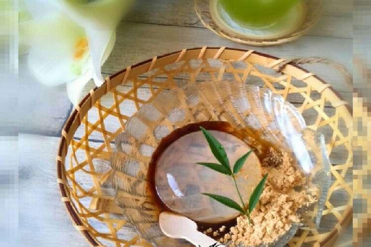 水 信玄 餅 作り方 自宅でも簡単に作れる水信玄餅の作り方レシピ