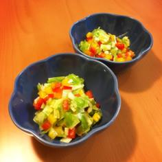 カレーの日に★スプーンで食べるサラダ