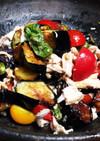 簡単に✨鶏胸肉と揚ナスの&ししとうサラダ