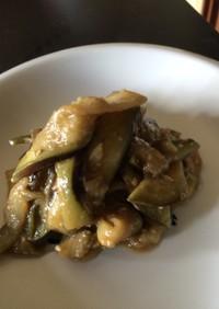 ご飯がススム茄子の味噌炒め
