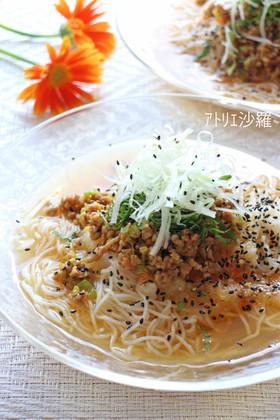 ちょい辛♪肉味噌&大根おろし✿坦々素麺