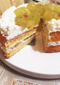 簡単☆ブドウのデコレーションケーキ☆
