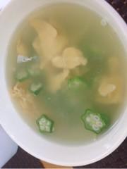 オクラとたまごのスープの写真