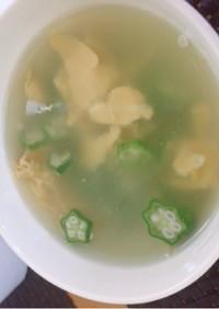 オクラとたまごのスープ