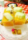 パンナコッタ&オレンジゼリー2色スイーツ