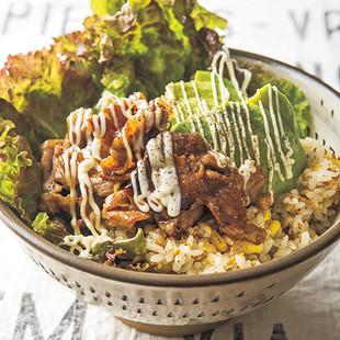 アボカド豚丼