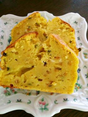 南瓜とクリームチーズのパウンドケーキ