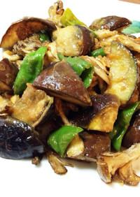 簡単♬なすとピーマンと舞茸の甘辛味噌炒め