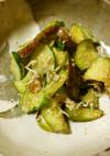 水茄子と胡瓜とちりめんの茗荷酢味噌