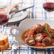 牛肉とモッツァレラのインボルティーニ