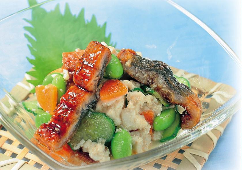 うなぎと豆腐の夏バテ予防サラダ