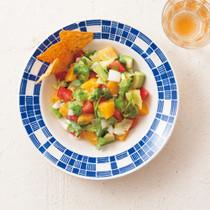 アボカドとオレンジのサルサチョップドサラダ