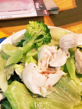 脂質、糖質制限アボガドと鳥肉のサラダ
