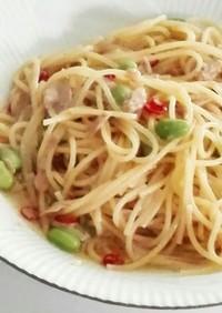 ツナと枝豆のペペロンチーノ