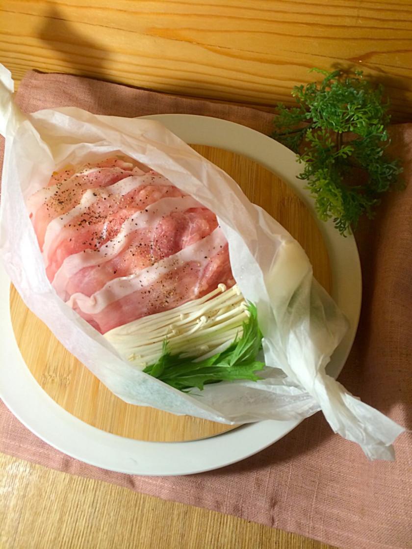 豚と温野菜のレンジ蒸し