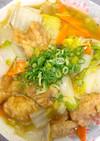 余った唐揚げを油不使用で低カロリー八宝菜