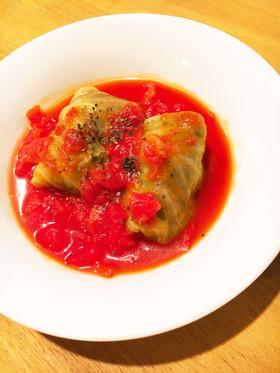 トマト缶で簡単ロールキャベツ