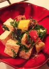 胡麻と夏野菜のパクチー豆腐グリル