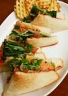 水菜と生ハムのオーロラソースサンドイッチ