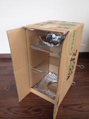 簡単安上がりダンボール燻製の箱の作り方の写真