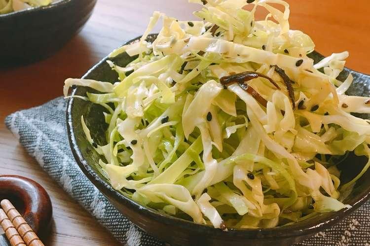 キャベツ の 千切り レシピ 【みんなが作ってる】 キャベツの千切り サラダのレシピ