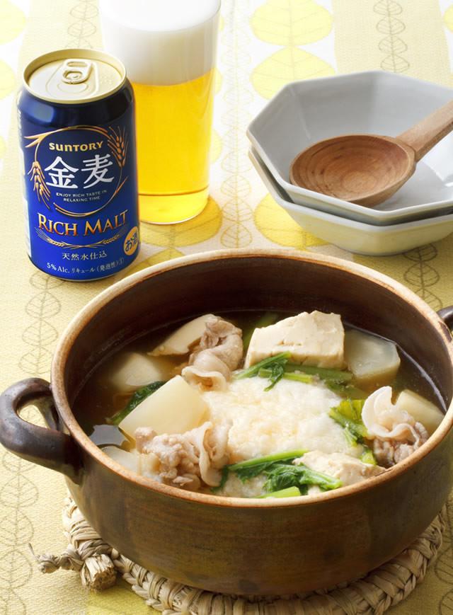 豚とかぶと豆腐のとろとろ鍋