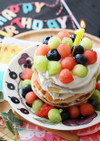 1歳の離乳食バースデーケーキ(卵なしで)