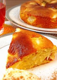 簡単♡しっとり♪シナモンアップルケーキ