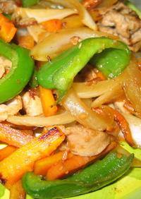 カラフル野菜の味噌炒め