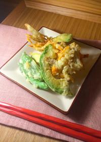 アボカドと根菜のかき揚げ