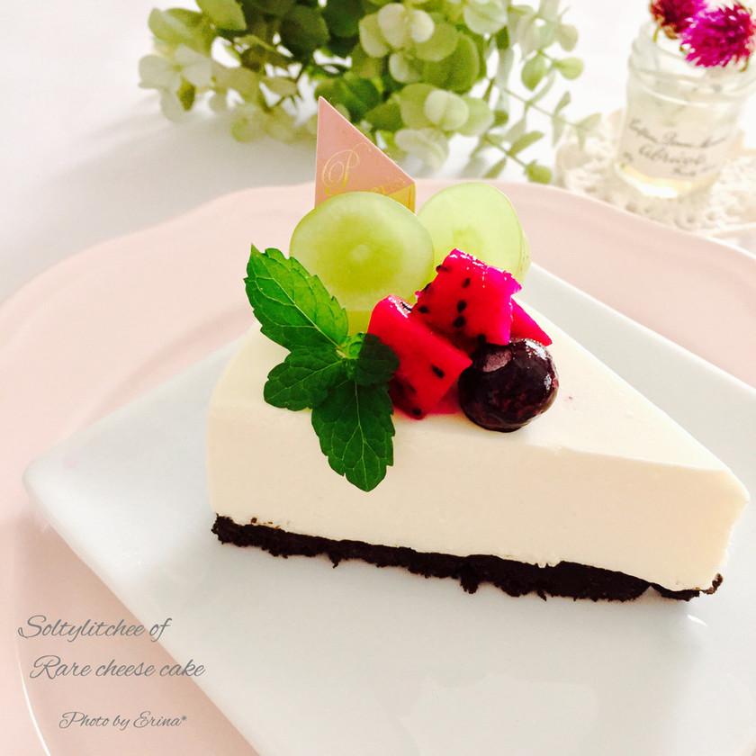 ソルティーライチで♡レアチーズケーキ