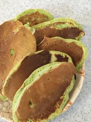 簡単!小松菜とバナナのホットケーキ!の写真