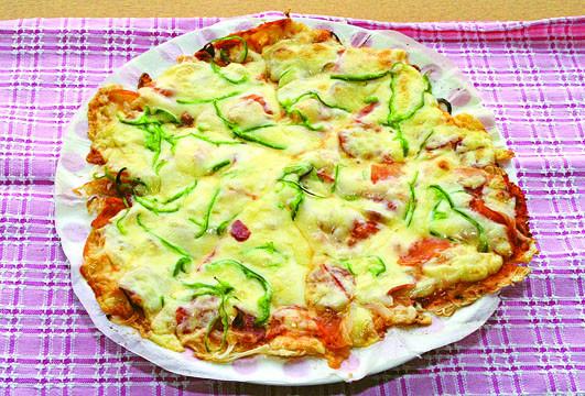 ☆そうピザ(そうめんピザ)☆