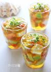 レンジで簡単♪夏野菜と豆腐の和風ジュレ