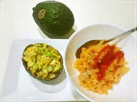 ランチ☆晩御飯にアボカド玉子とオムライス