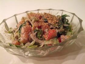 ごまたっぷりチンゲン菜のサラダ