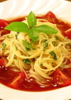 ♡♡♡トマトジュースde冷製スープパスタ