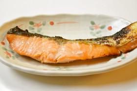 鮭の生塩糀漬け焼き