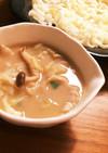 豚こま&麺つゆ節約 簡単 胡麻汁肉うどん