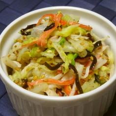 白菜とカニカマの塩昆布ごま和え