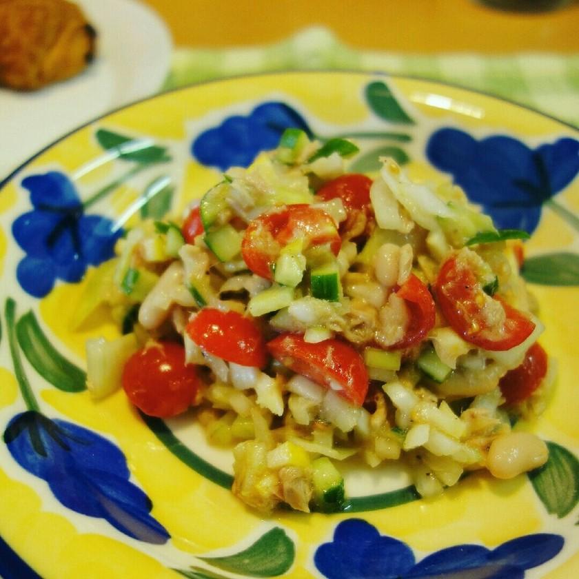 白いんげん豆とトマトのサラダ