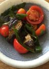 アゲ茄子ポン酢のミニトマト添え