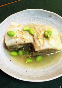 簡単〜白菜なす豚肉の重ね蒸し