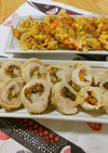 鶏むね肉の野菜巻き
