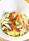 夏野菜とボイル蟹の彩サラダ
